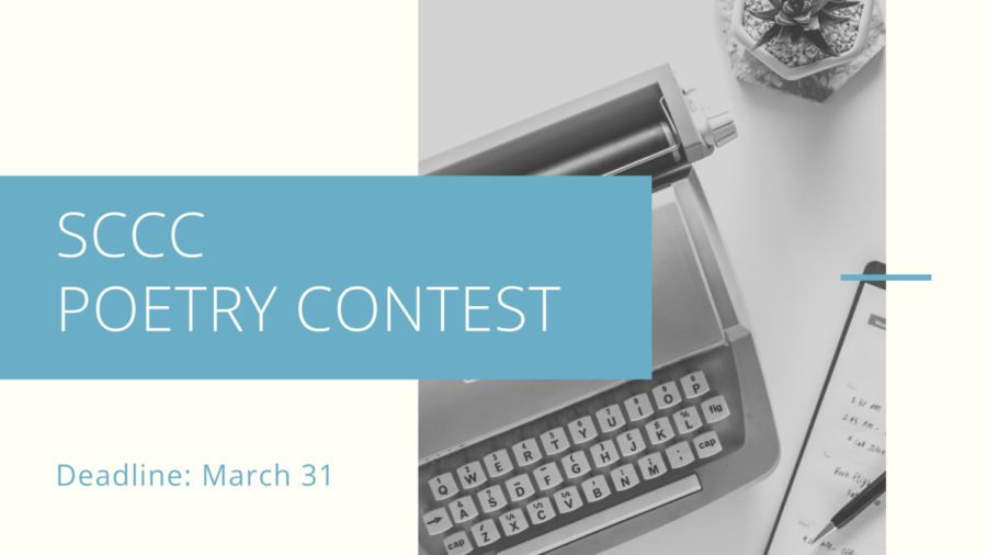 The annual poetry contest is taking entires until March 31. Students can win prizes.