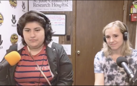 Co-editors, Michelle Mattich and Amberley Taylor, talk on the radio station, La Mexicana, about the Hispanic Heritage week and the projects they worked on for Humanities Kansas.
