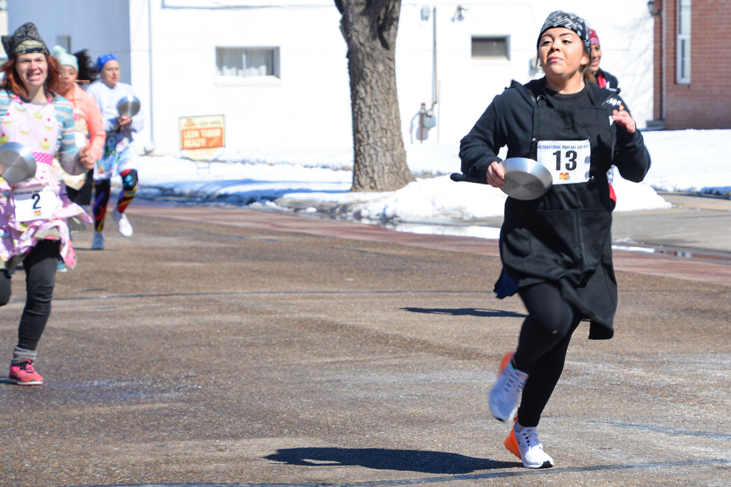 Abby Lovato, a SCCC student and Liberal resident, participated in the Last Chance Race. This is the traditional race depicting a woman running from her house to church after she realized she was late. Liberal competes every year with their sister city, Olney, England. The town with the fastest time is named champion for the year. Lovato placed  sixth.