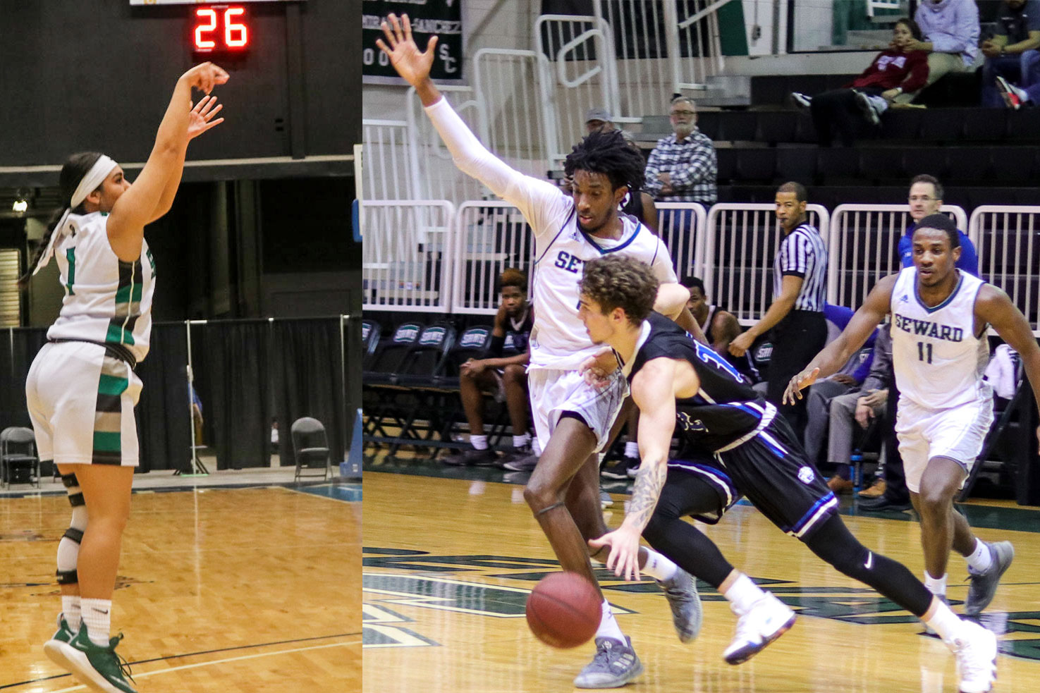 Both the men's and women's basketball teams advanced to the championship game for the Region VI tournament. The Lady Saints play tonight at 5 p.m. and the Saints play at 7 p.m.