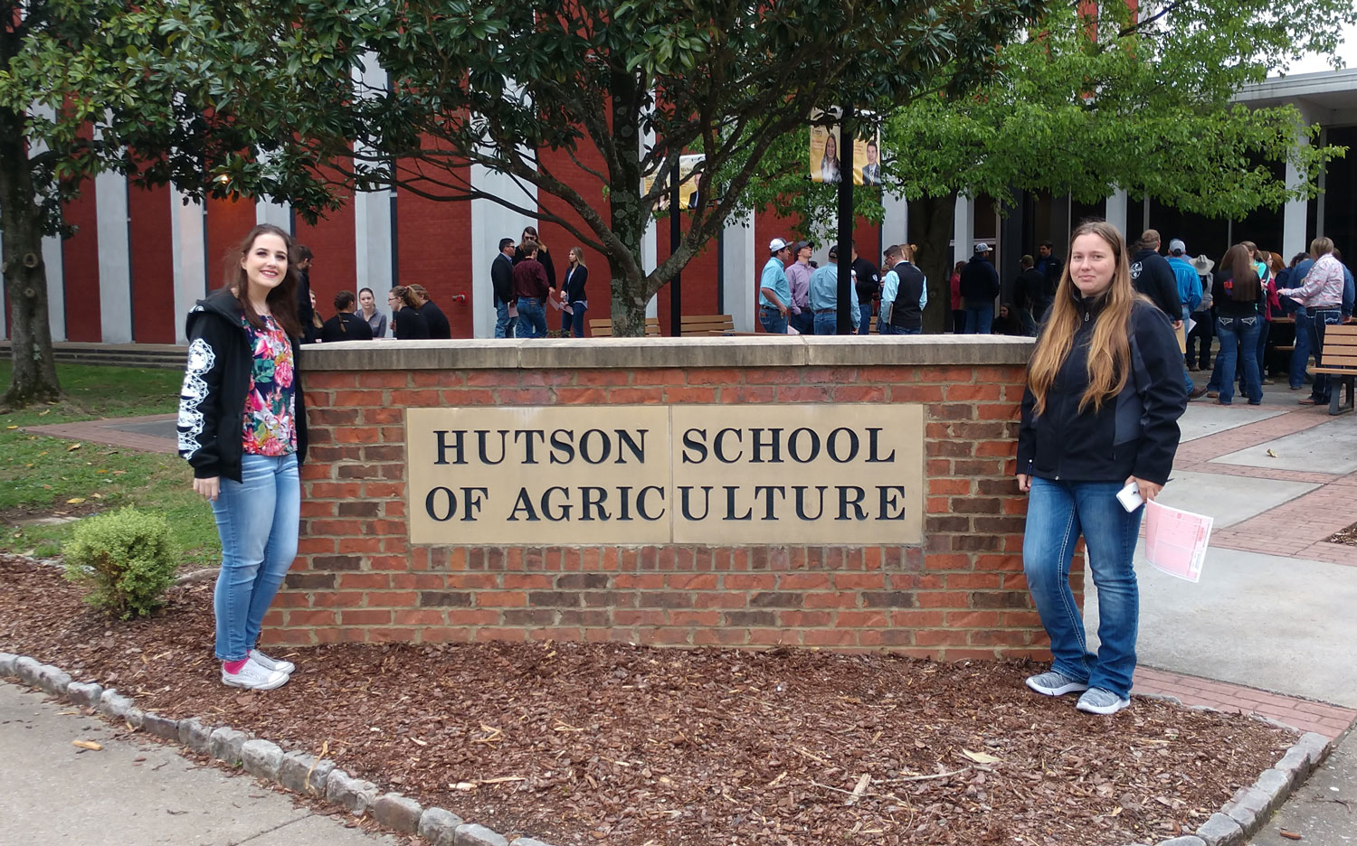 Sophomore biology major Madison Hall and freshman behavioral sciences major Molleigh McCormack attended the North American Colleges and Teachers of Agriculture Student Judging Contest at Murray State University in Murray, Kentucky. The Agriculture department has competed in NACTA every spring semester.