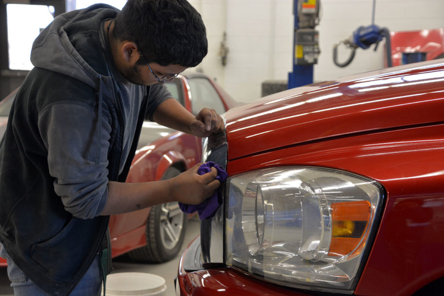 There are several clients from outside the county that bring their cars to get to them detailed from the inside and outside. It helps students to practice their abilities in the automobile industry.