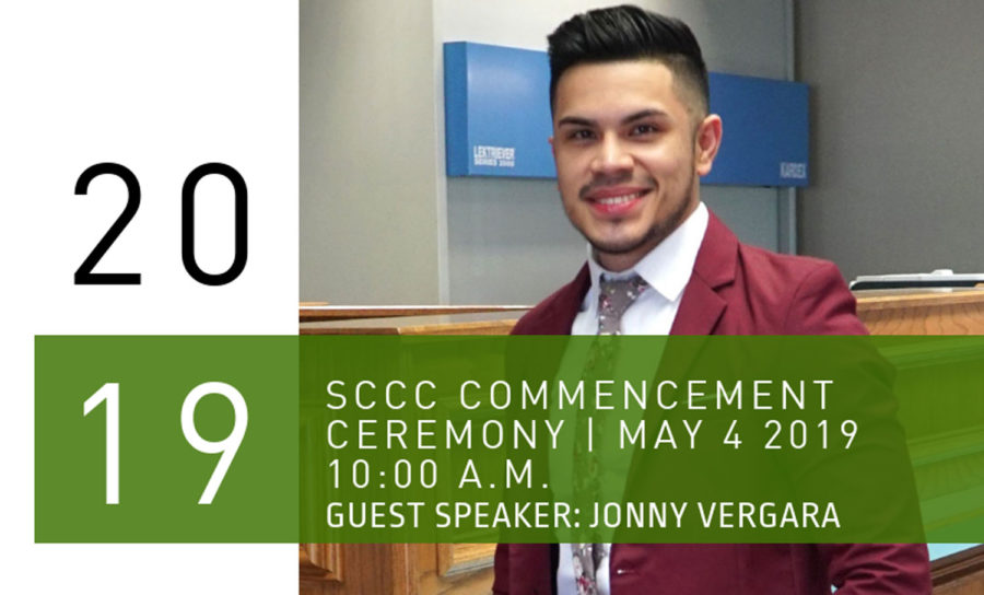 Seward+County+Community+College+will+hold+the+48th+annual+commencement+ceremony+on+May+4+at+10+a.m.+in+the+Greenhouse.+Special+guest%2C+senior+branch+manager+at+Sunflower+Bank+of+Liberal%2C+Jonny+Vergara%2C+will+be+giving+a+speech+as+SCCC+president+Ken+Trzaska+asked+him+to+do+so.+