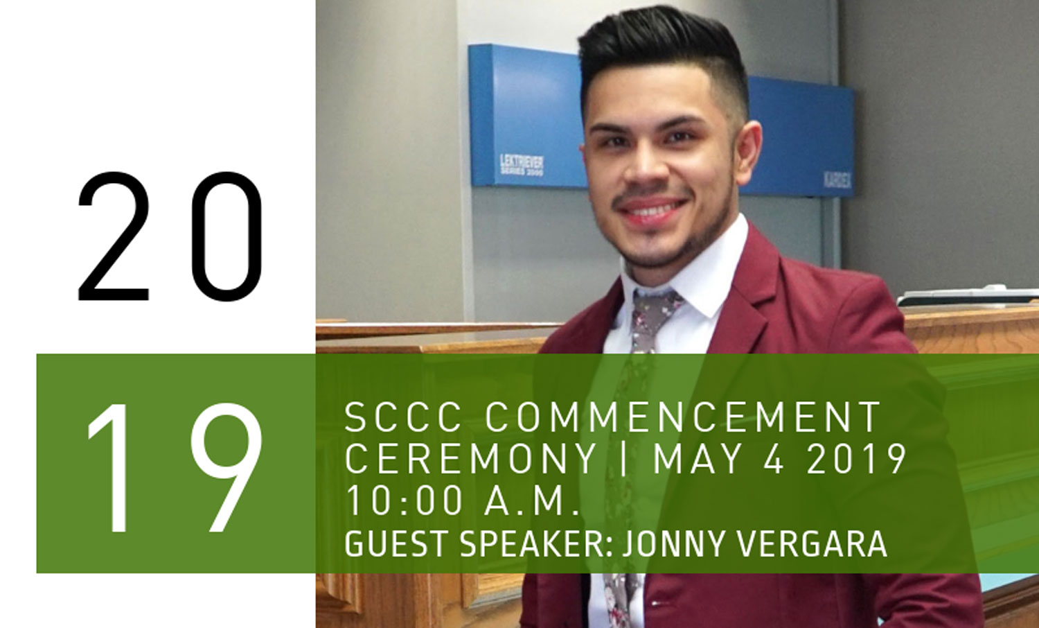 Seward County Community College will hold the 48th annual commencement ceremony on May 4 at 10 a.m. in the Greenhouse. Special guest, senior branch manager at Sunflower Bank of Liberal, Jonny Vergara, will be giving a speech as SCCC president Ken Trzaska asked him to do so.
