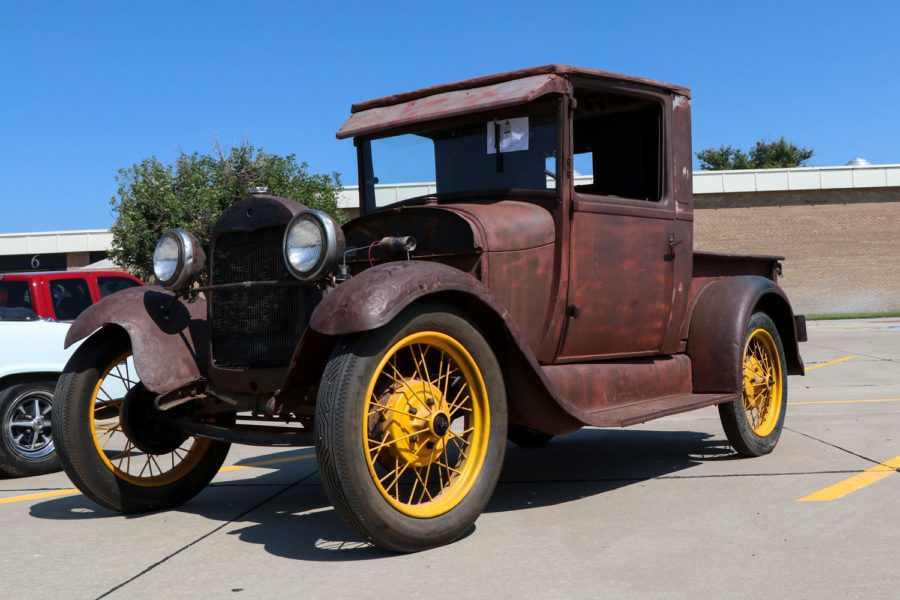 One of the oldest cars in the contest is from 1929 and entered by Delani Geory.