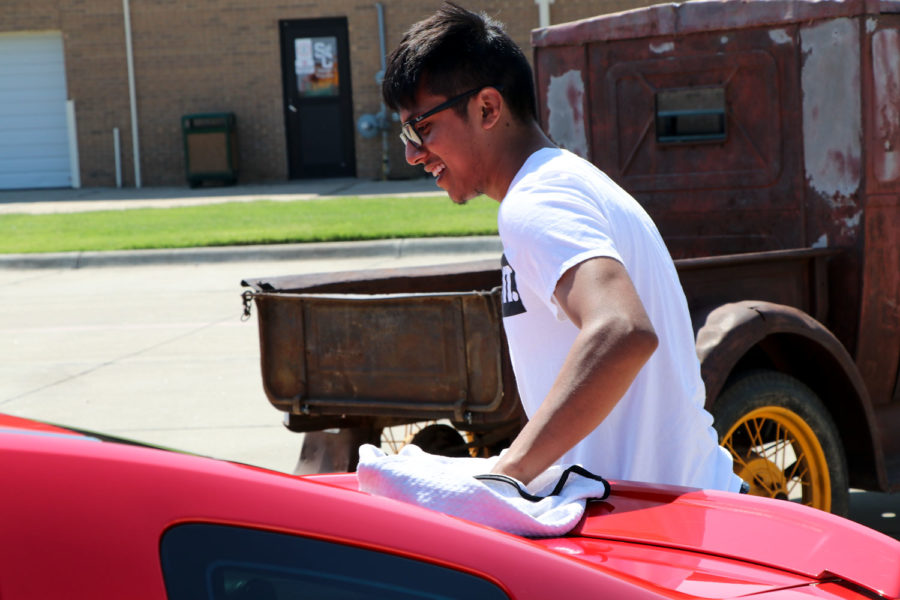 SCCC+student+Edgar+Palma+from+Guymon%2C+Oklahoma+enters+his+car+in+his+third+car+show.+He+has+owned+it+for+four+years.+