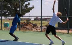 Saints tennis begins individual season