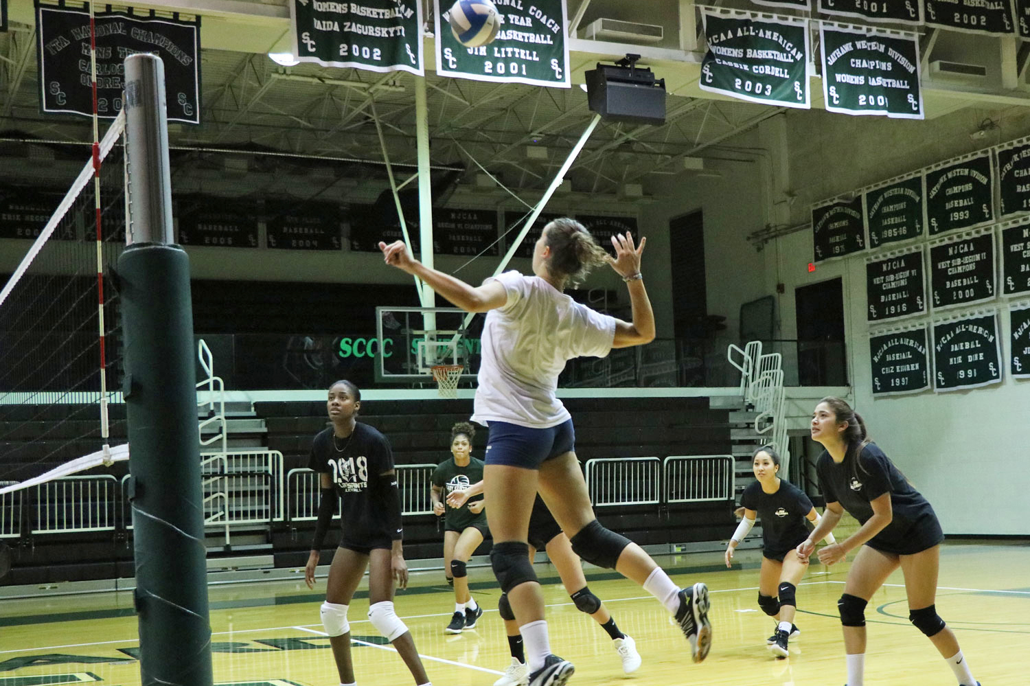 The Lady Saints will play their first home game on Wednesday at 6:30 p.m. The enter the match with Dodge City Community College with a record of 9-2.