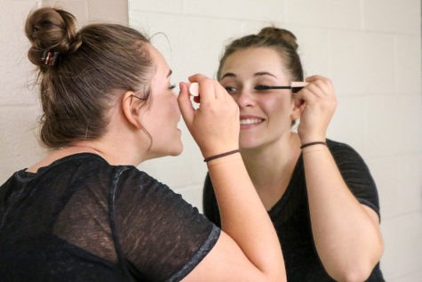 Cosmetology students learn that less is more when doing their own make up or others.