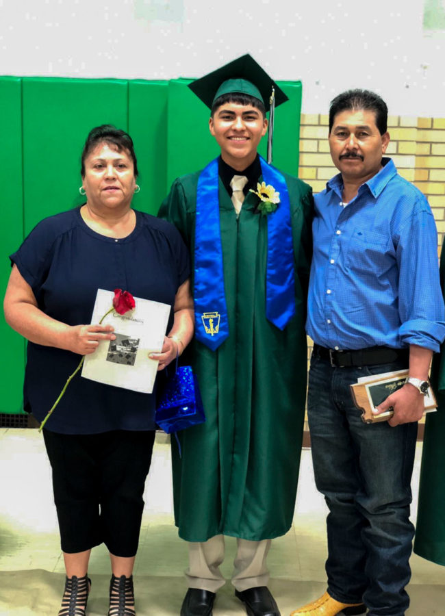 Freshman computer science major, Oscar Silva and his parents, Irma and Jesus Silva, like to center their Christmas around the birth of Jesus so they don't stray away from the true meaning of the holiday.