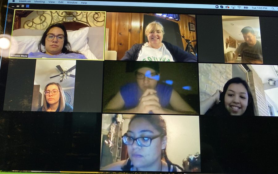 Crusader class, aka staff meetings, switched to zoom when campus was closed due to COVID-19. This lasted the entire second half of the spring. semester ... even the end of the year game party was via zoom.