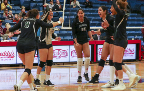 The Lady Saints are excited about the second set win against the Lady Bulldogs, making the game a nail biter for the Saints fans. Unfortunately, the Lady Bulldogs defeated the Lady Saints in match five and the score ended 19-17.