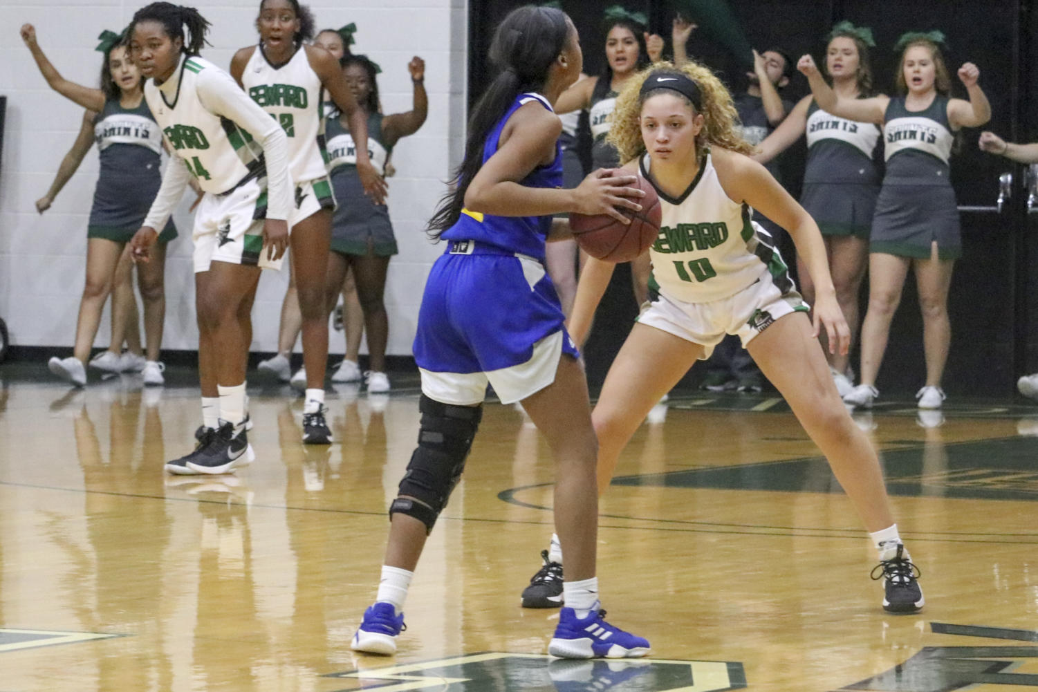 On Nov. 2, the Lady Saints played against Frank Phillip College. The Saints beat them 80-68 during the Pizza Hut Classic. This puts them at 2-0 early in the season.