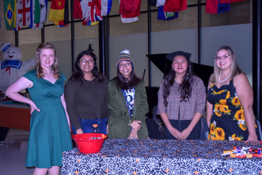 SCCC clubs, such as the art club, helped at Trick or Treat street.