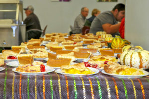 Pumpkin pie is a must have on Thanksgiving, especially during the free Thanksgiving lunch Seward County Community College put on for the community and students.