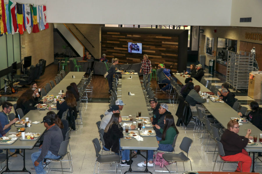 Students and community members were invited to the annual Thanksgiving luncheon which takes place at the SCCC cafeteria. Many students said their favorite side this year was the mashed potatoes.