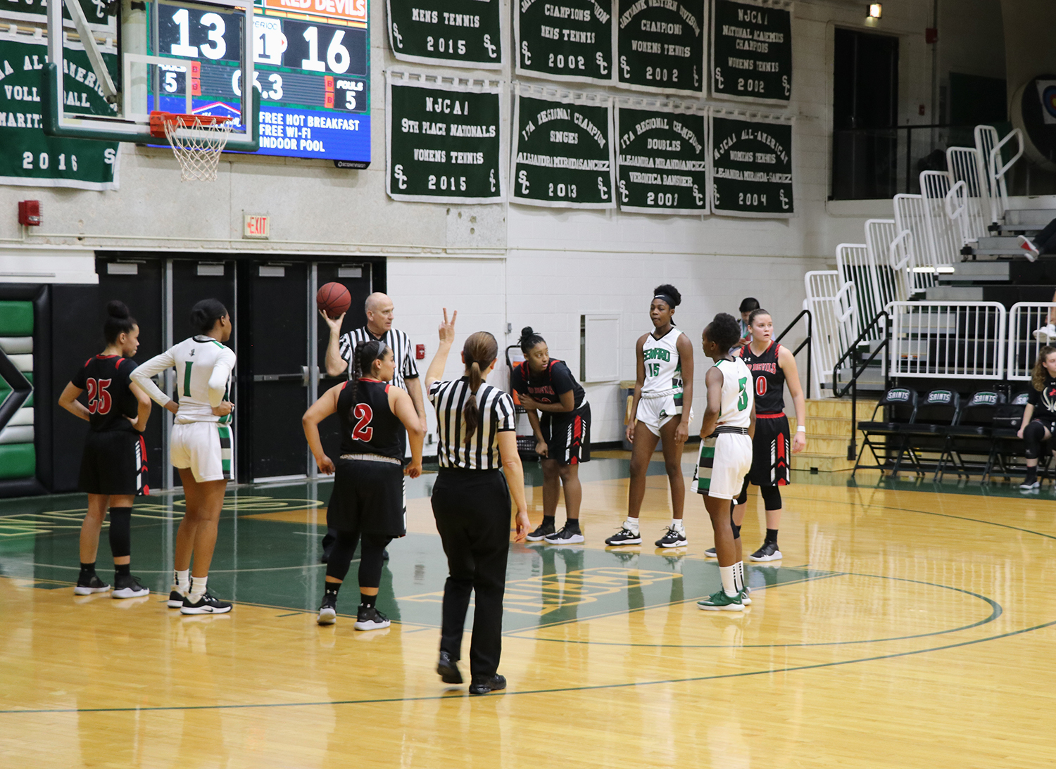 Aquila Mucubaquire lines up for the free throw. The sophomore from Mozambique shoots 75% from the line.