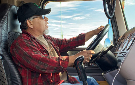 Phillip Jacobs, trucker for O'Grady Trucking, spends most of his life on the road. He has been in the profession for about 40 years now. His favorite part of the job is traveling and meeting new people, which seems to be common among other truckers as well.
