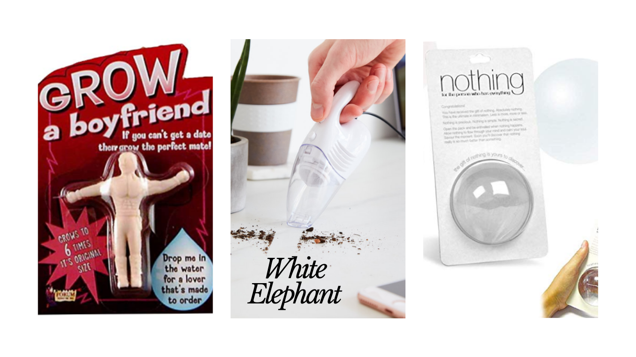 White+Elephant+gives+an+opportunity+to+have+fun+with+a+gift+giving.+There+are+some+great+gag+gifts+out+there+to+entertain+and+help+your+gift+be+the+hit+of+the+party.
