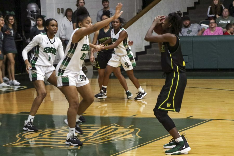The Lady Saints played against Barton Community College on Jan. 25. The ladies won with a score of 69-63 and they are now 12-0 in conference play.