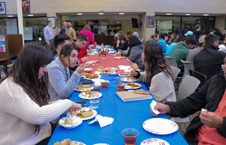 Students, staff and community members enjoyed various types of food on Jan. 29. Mexican, Polish, German, and more types of foods were offered at the banquet.
