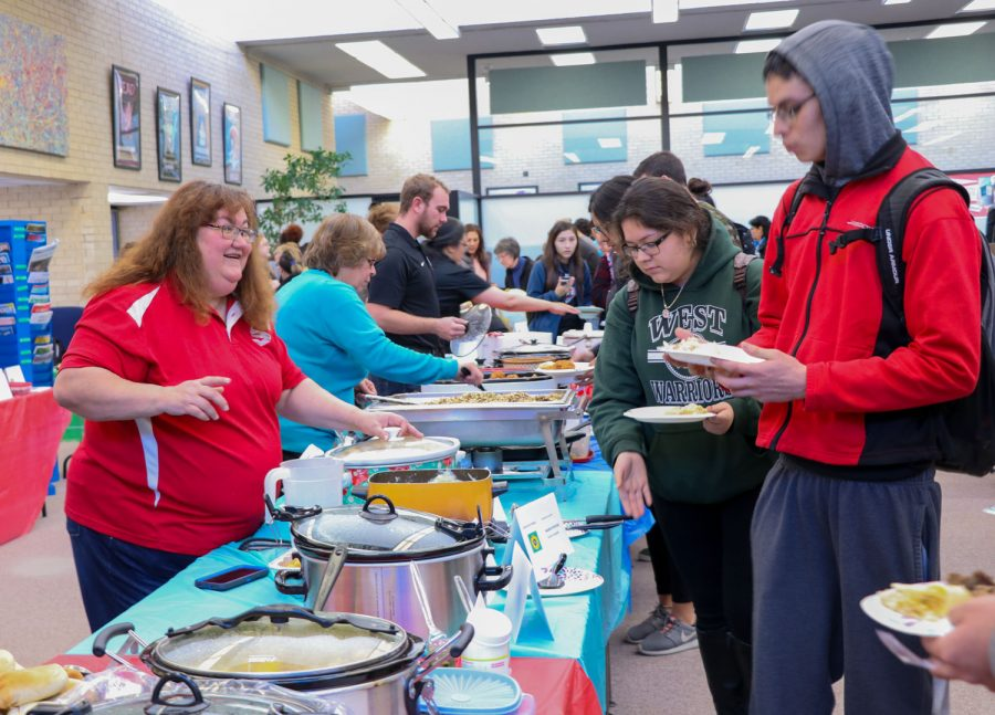 Taste of Kansas took place on Jan. 29 in the SCCC library. The event was held to show the many cultures and foods that make up Kansas. About 50 plates of food were brought for the potluck and over 200 people attended.