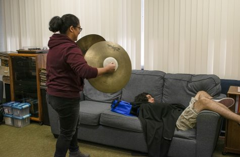 Photo essay: music cave becomes second home for music majors