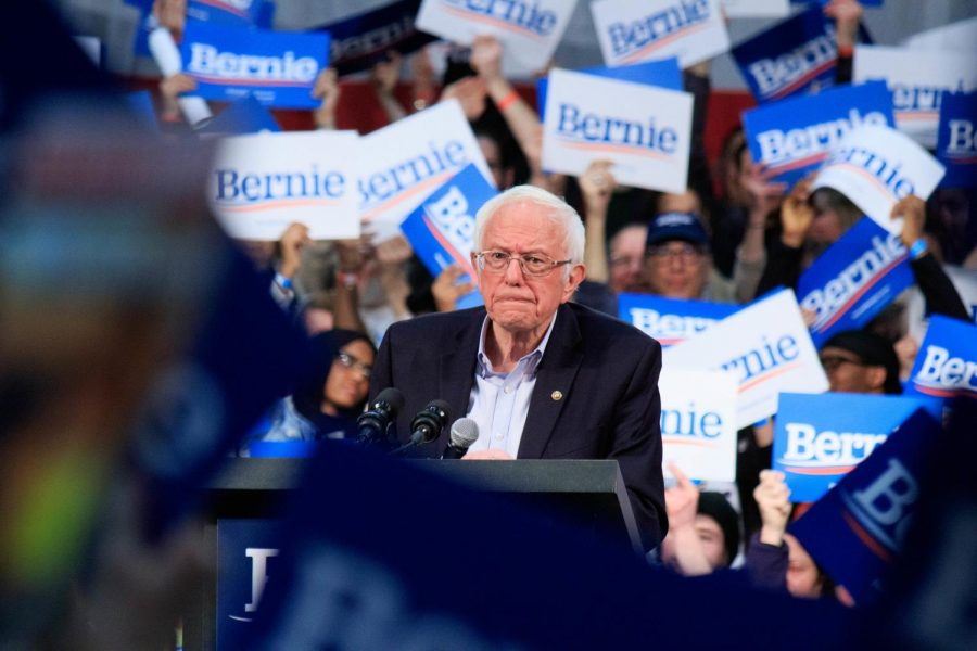 Sen.+Bernie+Sanders+%28D-VT%29+holds+a+rally+hours+before+Super+Tuesday+at+the+Rivercentre+in+St.+Paul%2C+MN%2C+on+March+2%2C+2020.