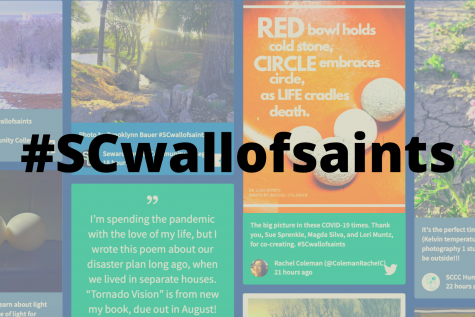 Post your poetry, photography, short story, art, video or anything creative on your social media using #SCwallofsaints to join in the virtual coffeehouse.