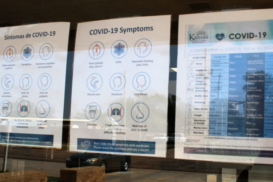Students%2C+staff+and+faculty+are+asked+to+report+if+they+have+any+symptoms+of+COVID-19.+The+list+of+symptoms+are+posted+all+over+campus+and+town.
