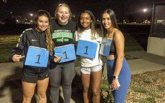 Winners of the SLC Amazing Race are Melissa Crisant, freshman softball player, Regan Watt ,freshman softball player, Macy Spearman, freshman softball major and Ashley Low, freshman softball player.