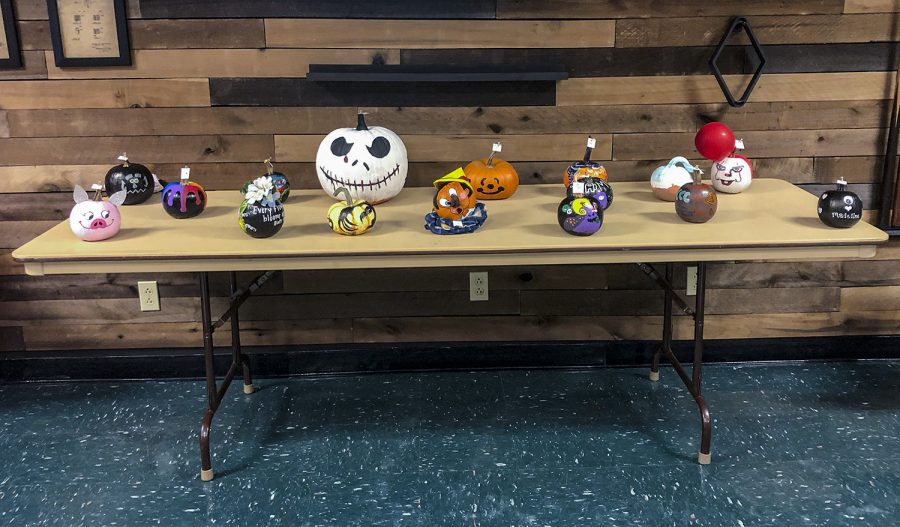 Pumpkin painting contest goes on despite snow storm