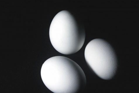 "Photography students took their cameras off auto this semester and learned to shoot manual. This picture of eggs was all about ""white balance."" See more student photography in the Fall 2020 exhibit."