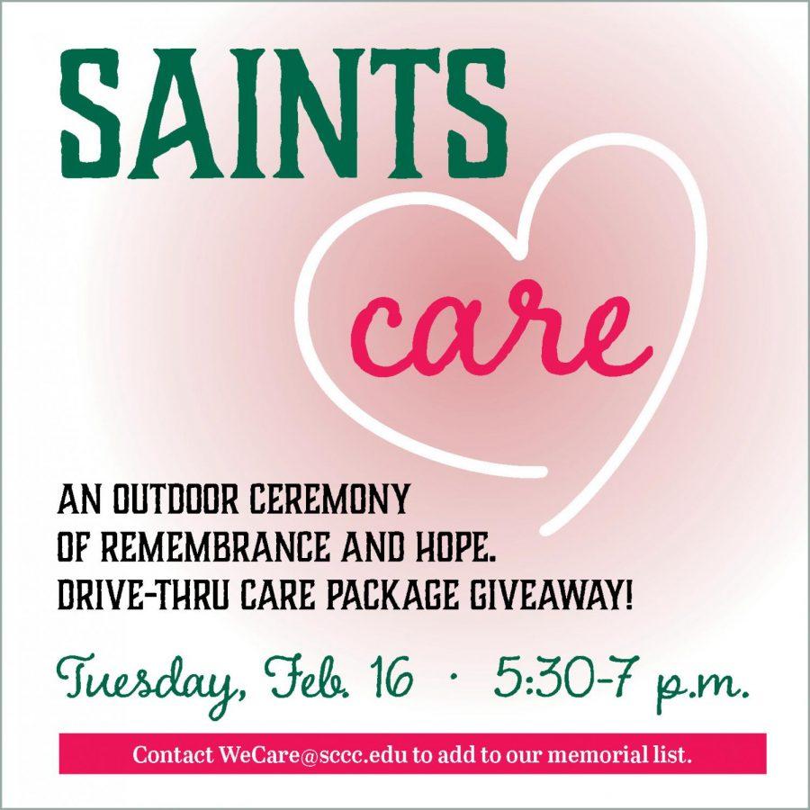 """SCCC offers community drive-through """"Saints Care"""" event"""