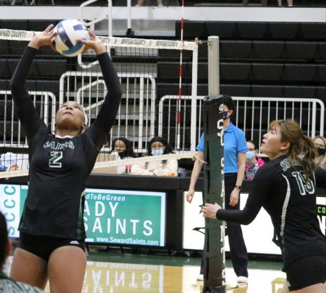 The Lady Saints played against Colby Community College on March 4. They bounced back after a first home loss in 61 games. ( File Photo )