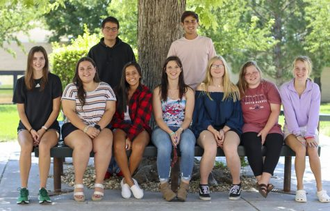 Crusader News earned sixth place in the national Best of Show contest over the weekend. The fall Crusader 2021 staff members are Brook Katen, Daniela Arellano, Victoria Martins, Ruby Thornton, Megan Berg,  Kylie Regier, Reece, William Swanson and Mauricio Gonzalez. Not pictured: Saskia Vogelzang, Mary Ramirez, Gracie Gillespie and Brianna Rich.
