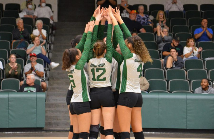 The Lady Saints celebrat their win from last nights game. They now have an overall record of 11-3.