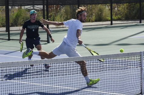 Enzo Frequelin and Ugo Fiorito play teammates Seb Holden and Lukas Gonzalez in the finals of Men's B Doubles draw.
